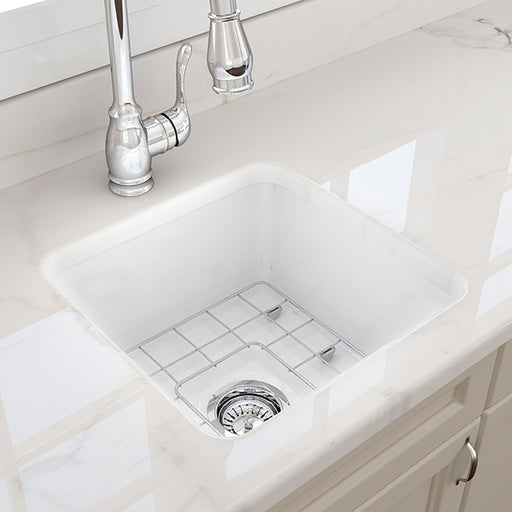 Turner Hastings Cuisine 46 x 46 Undermount Fine Fireclay Ceramic Kitchen Sink - The Blue Space