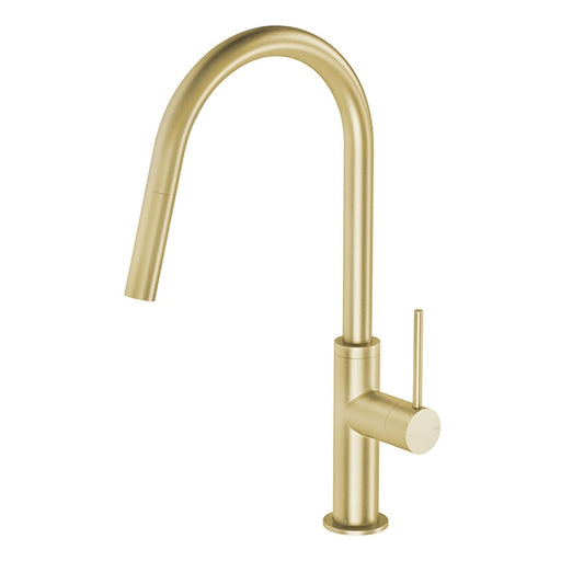 Phoenix Vivid Slimline Pull Out Sink Mixer - Brushed Gold - the blue space