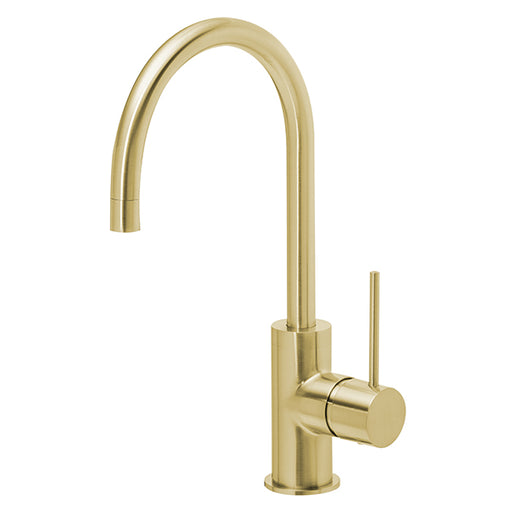 Phoenix Vivid Slimline Side Lever Sink Mixer 160mm Gooseneck-Brushed Gold - the blue space