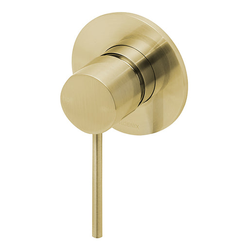 Phoenix Vivid Slimline Shower/Wall Mixer-Brushed Gold - the blue space