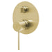 Phoenix Vivid Slimline Shower/Bath Diverter Mixer-Brushed Gold - the blue space