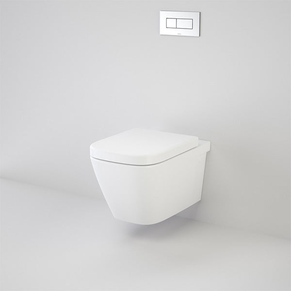 Caroma Cube Wall Hung Invisi Series II Toilet Suite by Caroma - The Blue Space