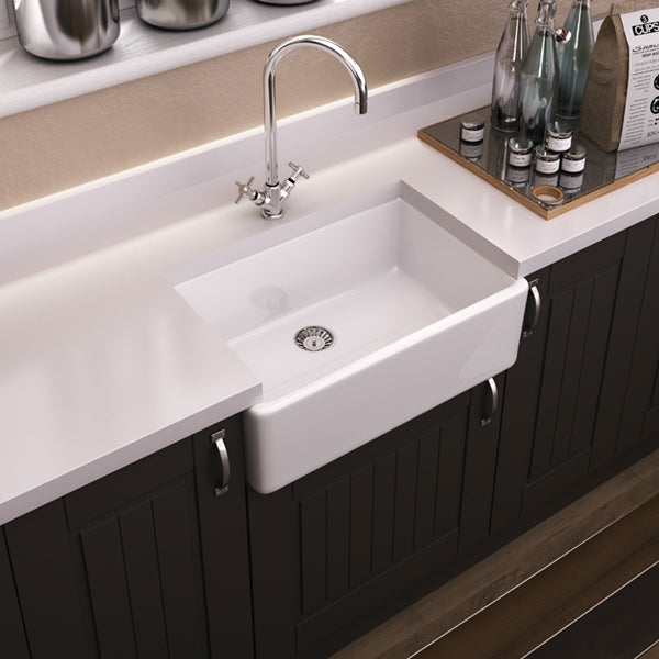 Turner Hastings Westminster 60 x 45 Fine Fireclay Butler Sink Online at The Blue Space