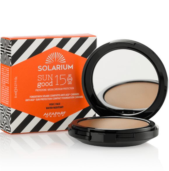 Solarium Sun Protection SOLARIUM SUN GOOD SOLAR COMPACT SOLUTION ANTI-AGE CARAMEL SPF15 8ML