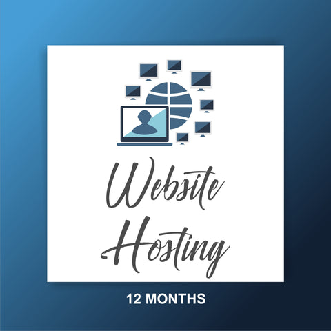 Website Hosting for 12 months with tech service - Virus Scan - Webvizion Digital - No.1 Web Services Store