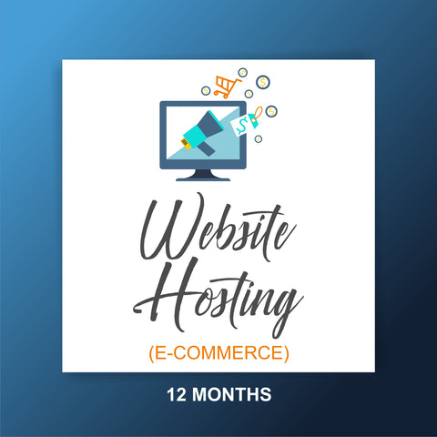 Website Hosting for 12 months with tech service - Extended - E-commerce Website - Webvizion Digital - No.1 Web Services Store