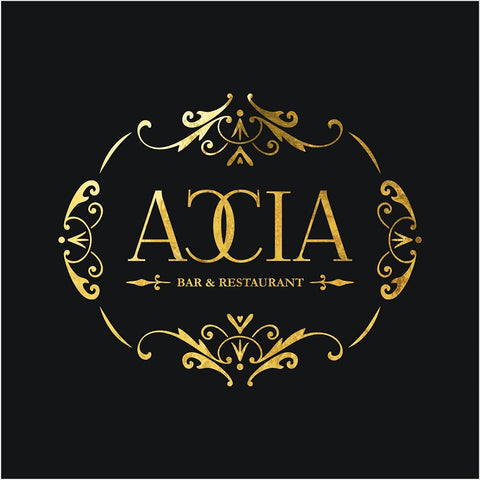 Accia Bar & Restaurant Premade Logo - Webvizion Digital - No.1 Web Services Store