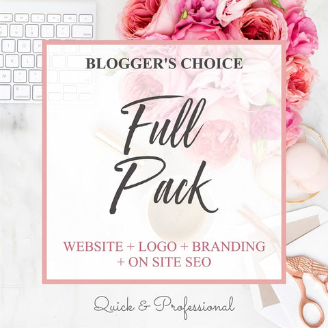 Business Startup Kit, Full Branding Pack, Bloggers Choice - Website, Logo, Branding, On Page SEO - Webvizion Digital - No.1 Web Services Store