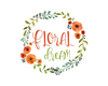 Flower Wreath Logo Design, Floral Premade Logo - Webvizion Digital - No.1 Web Services Store