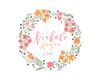Wreath Logo, Custom Logo Design, Premade Logo - Webvizion Digital - No.1 Web Services Store