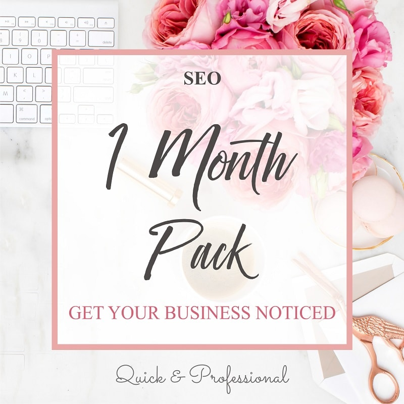 SEO One Month Pack - Webvizion Digital - No.1 Web Services Store