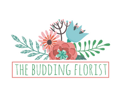 The Budding Florist Premade Logo - Webvizion Digital - No.1 Web Services Store