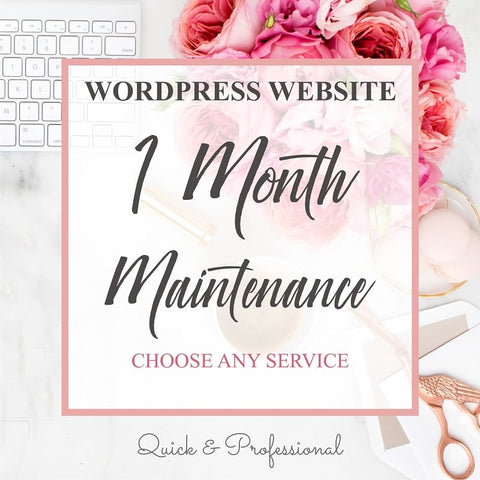 Wordpress Website One Month Maintenance - Webvizion Digital - No.1 Web Services Store