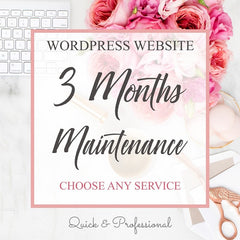 Wordpress Website Three Months Maintenance - Webvizion Digital - No.1 Web Services Store