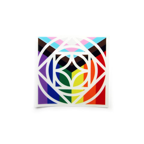 Pride Rose Sticker - Clear