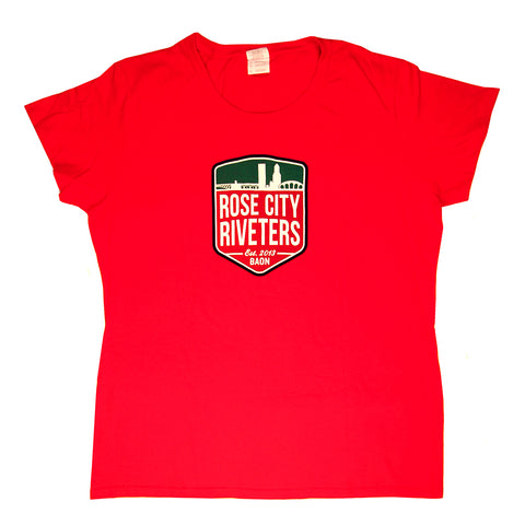 Crest Tee - Red