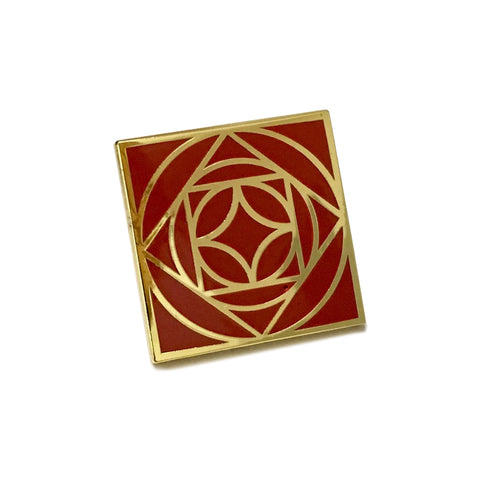 Riveters Rose Pin