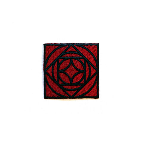 Square Red Rose Patch