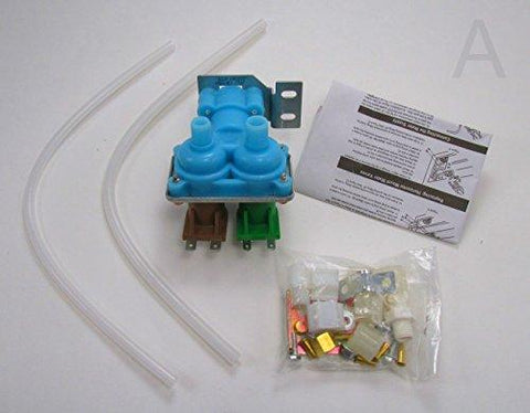 2182106 - Quality Replacement Dual Water Valve Kit for Refrigerators with Water Dispenser and Ice Maker. Fits Whirlpool, Kenmore, Maytag, KitchenAid, Amana, Admiral, Magic Chef, Norge, Roper. (Installation Instructions Inluded in Kit) by Edgewater Parts