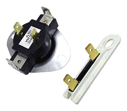 Edgewater Parts 3387134 & 3392519 Cycling Thermostat & Thermal Fuse for Whirlpool & Kenmore Dryer