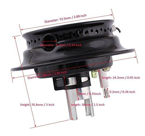 MAYITOP Burner Head Assembly Oven Gas Range Stove for Maytag Magic Chef Part 3412D024-09