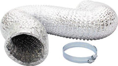 iPower 6 Inch 25 Feet Air Ducting Dryer Vent Hose for HVAC Ventilation, 2 Clamps included