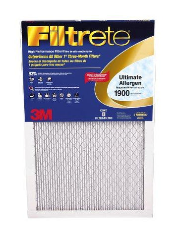 Filtrete MPR 1900 14 x 24 x 1 Healthy Living Ultimate Allergen Reduction AC Furnace Air Filter, Delivers Cleaner Air Throughout Your Home, Guaranteed Airflow up to 90 days, 6-Pack