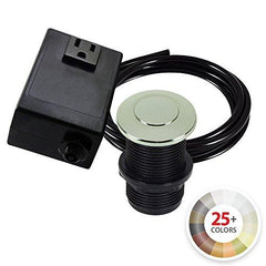 NORTHSTAR DECOR AS010 Single Outlet Garbage Disposal Air Switch Kit. 20+ Finishes to match any Faucet. Compatible with any Garbage Disposal Unit (Polished Nickel)