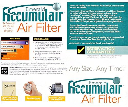 Accumulair FC10X24A_4 MERV 6 Rating Air Filter/Furnace Filters, 10x24x1 (Actual Size) - 4 pack
