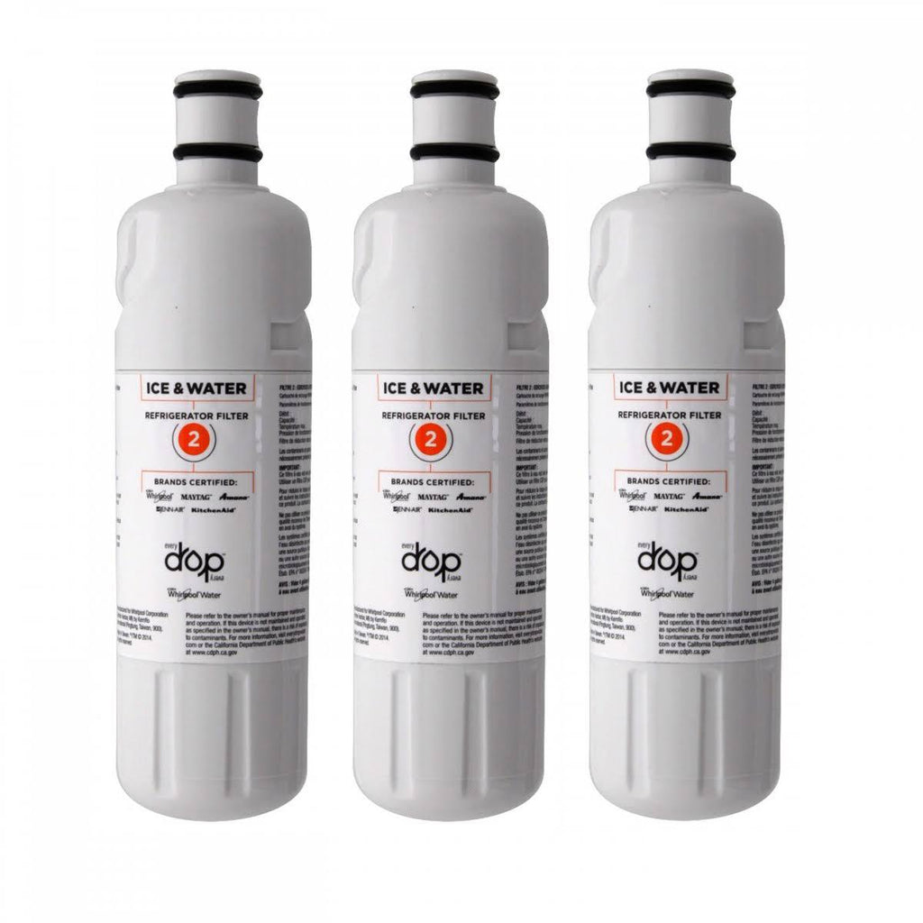 (3 Pack) Whirlpool EDR2RXD1 EDR2RXD2 W10413645A Everydrop Filter #2