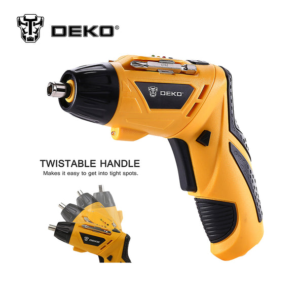 DEKO Cordless Electric 3.6V Lithium-Ion Screwdriver  Drill  LED Light Rechargeable