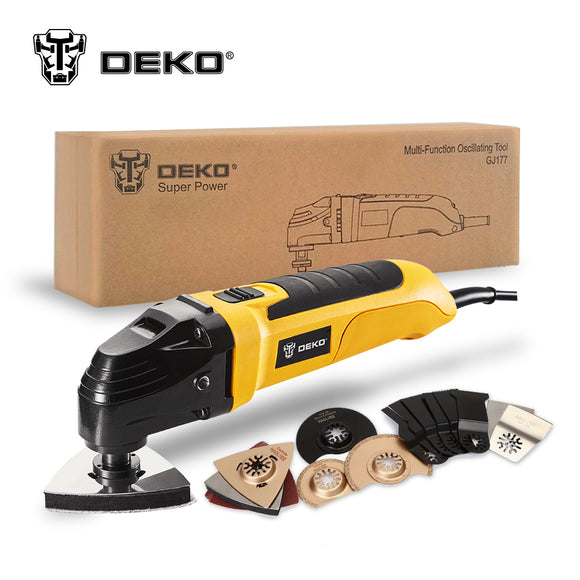 DEKO 220V Variable Speed Electric  Oscillating Tool Kit Multi- Electric Trimmer Saw w/ Accessories