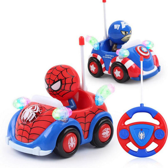 Marvel Spiderman Captain Toys Music Light Remote Control RC Car