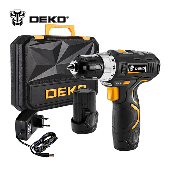DEKO GCD12DU3 12 V Max Electric Screwdriver Cordless Drill Mini  Lithium-Ion Battery 3/8-Inch 2-Speed
