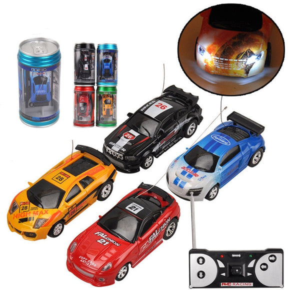 Coke Can Mini RC Car Radio Remote Control Micro Racing Car 4 Frequencies Birthday Gifts for Kids