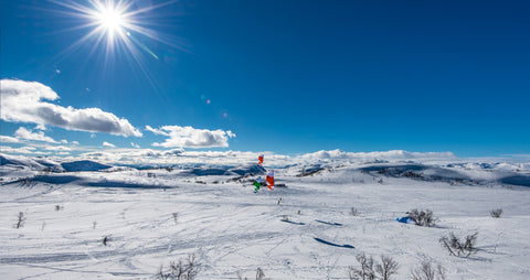 Snow Kite In Norway