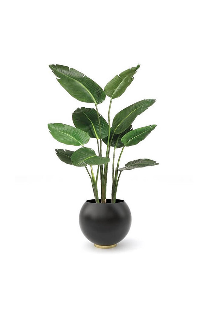 AYTM | Globe kaspó, fekete | Globe Flower Pot, black | Solinfo Shop