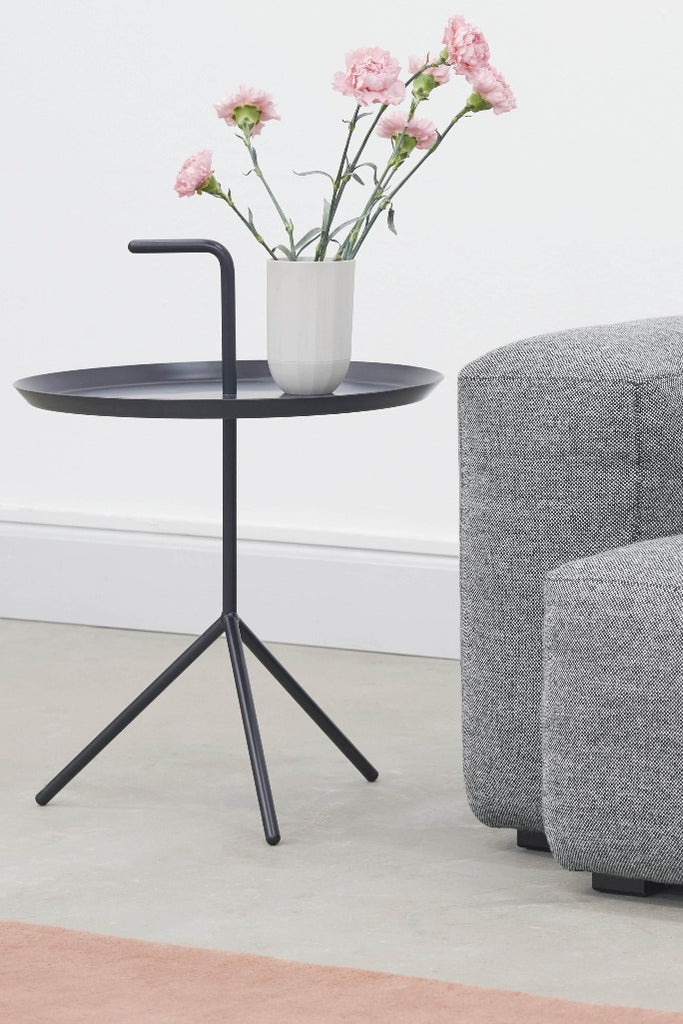 Hay DLM XL lerakó asztal fekete | DLM XL side table, black | Solinfo Shop