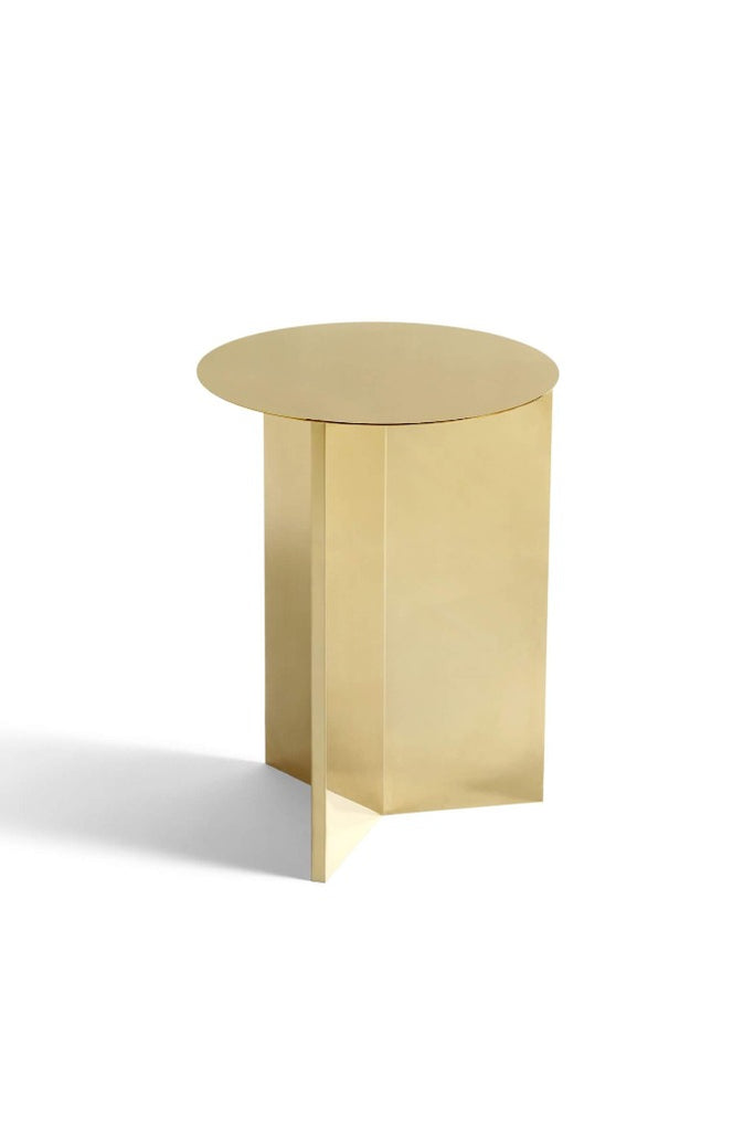HAY Slit sárgaréz lerakóasztal | Slit side table, high brass | Solinfo Shop