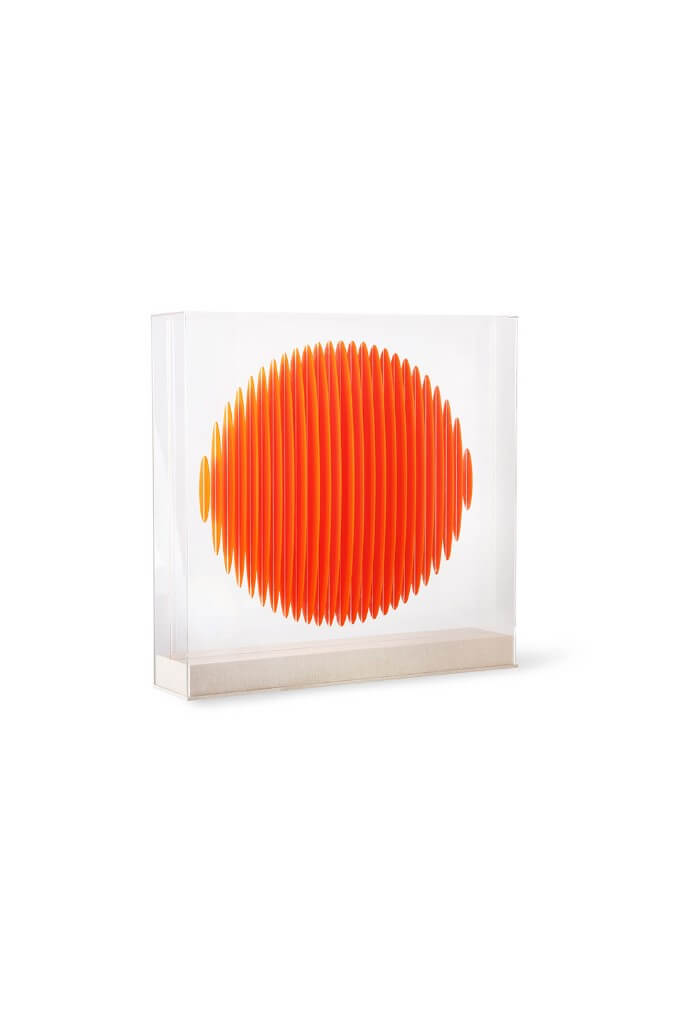 HKliving Design üveg szobor | Orange circle art frame | Solinfo Shop