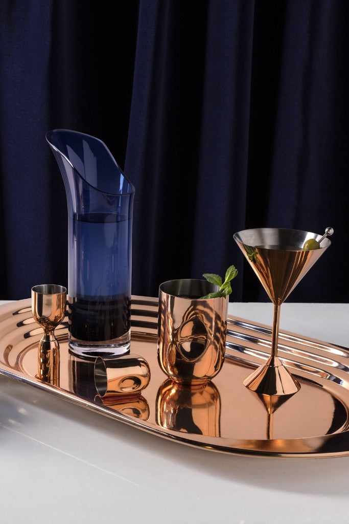 Tom Dixon Plum Martini pohár szett | Plum Martini glass set copper | Solinfo Shop