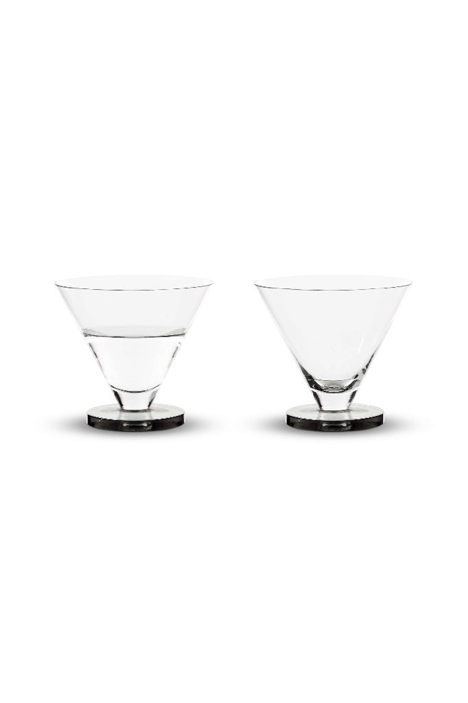 Tom Dixon Puck Cocktail pohár szett | Puck Cocktail Glasses x2 | Solinfo Shop