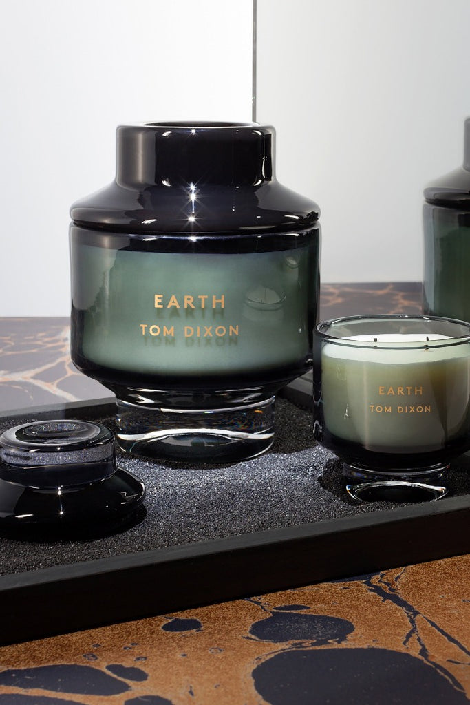 Tom Dixon, Elements Earth, scented candle, black, illatgyertya, fekete