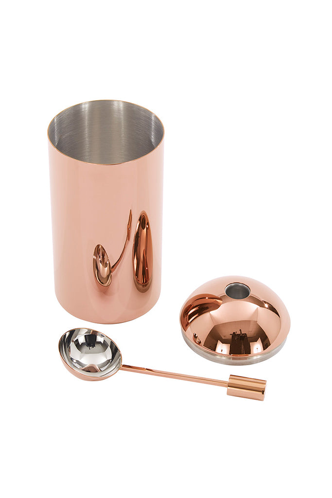 Tom Dixon, Brew coffee caddy, copper, Brew kávétartó, réz