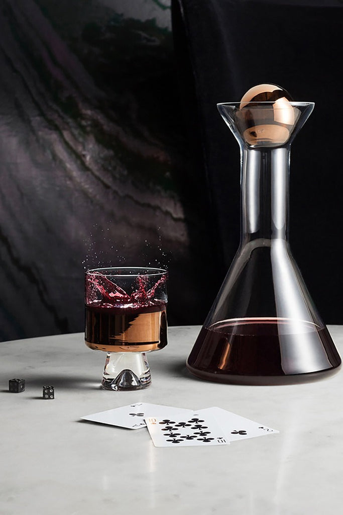 Tom Dixon, Tank decanter, copper, Tank dekantáló, réz