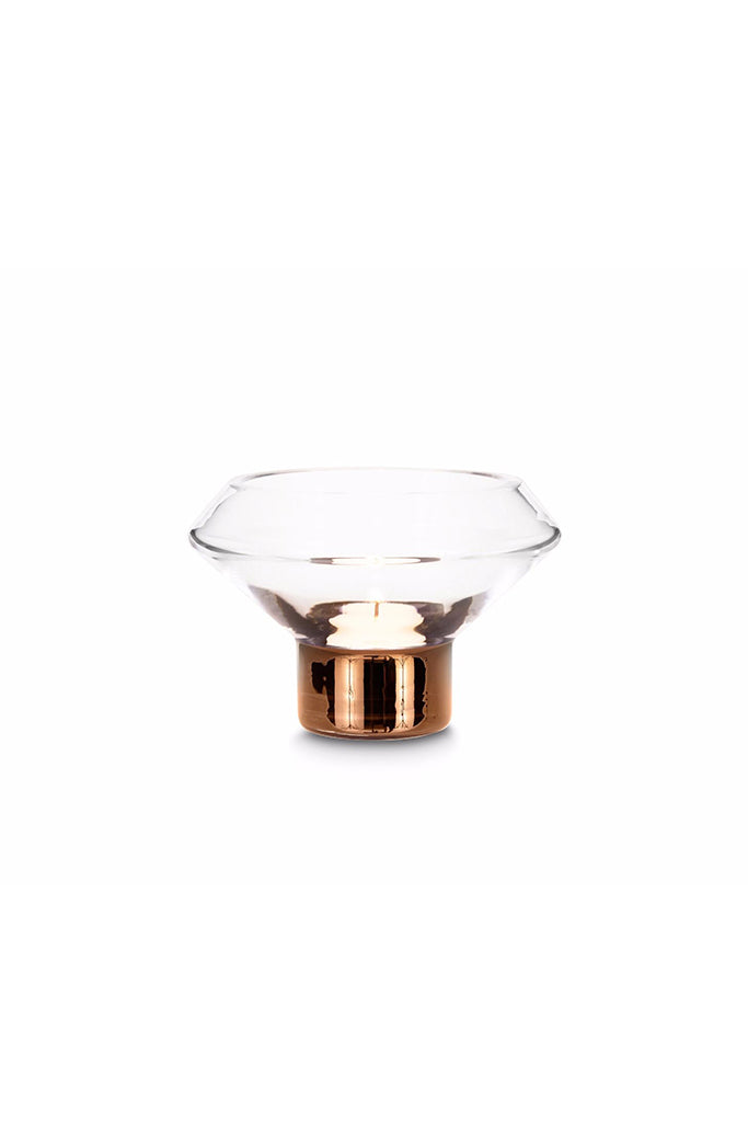 Tom Dixon Tank tea light holder, glass, copper, mécses, réz