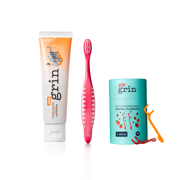 1-2-3 Grin! Kids Oral Care Pack - Grin Natural Australia