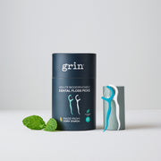 Grin Adults Biodegradable Dental Floss Picks 45pk - Grin Natural Australia