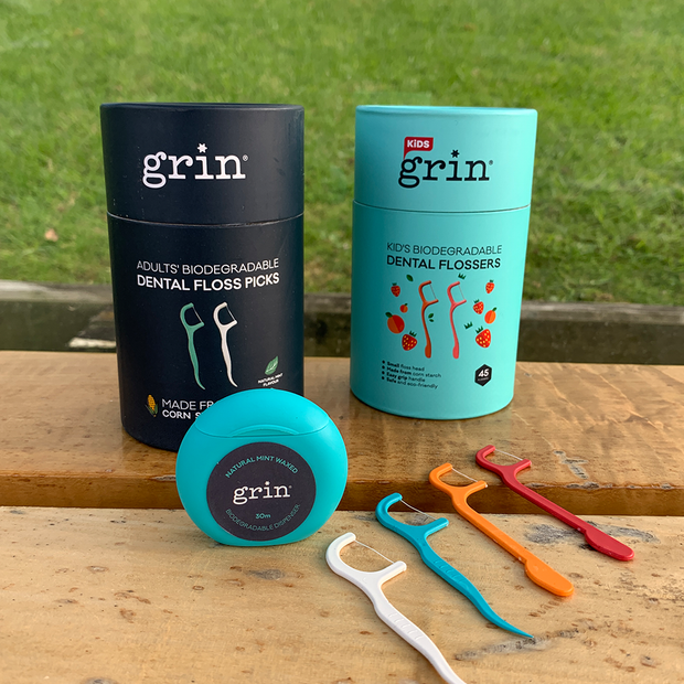 Grin Natural Mint Waxed Dental Floss 30m