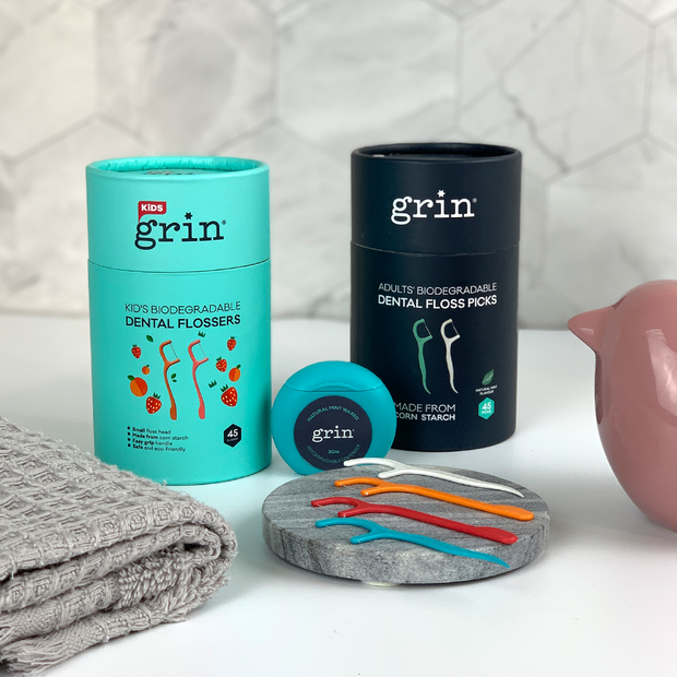 Grin Biodegradable Dental Floss Family Pack - Grin Natural Australia